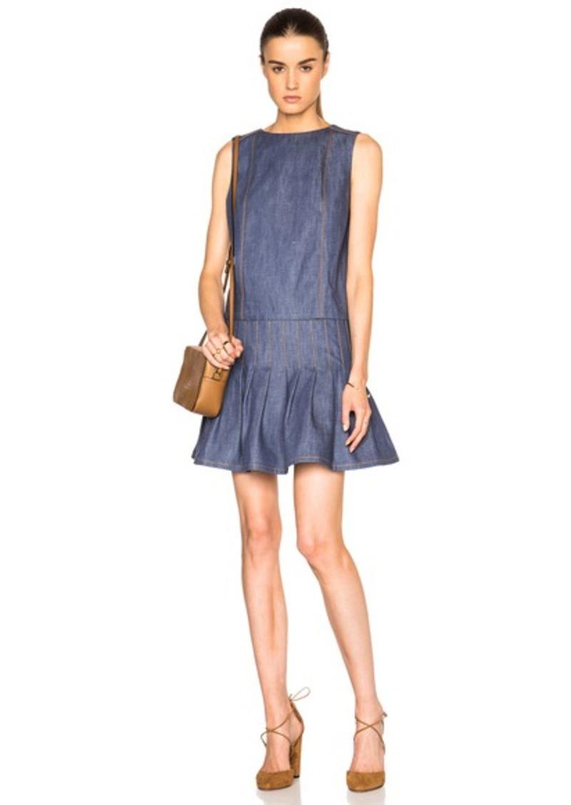 SUNO Denim Pleated Dress