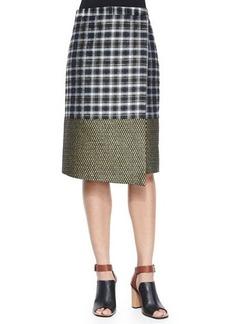 Suno Metallic Wrap Midi Skirt