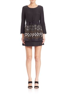 SUNO Organza Overlay Mini Dress