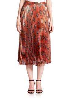 Suno Pleated Midi Skirt