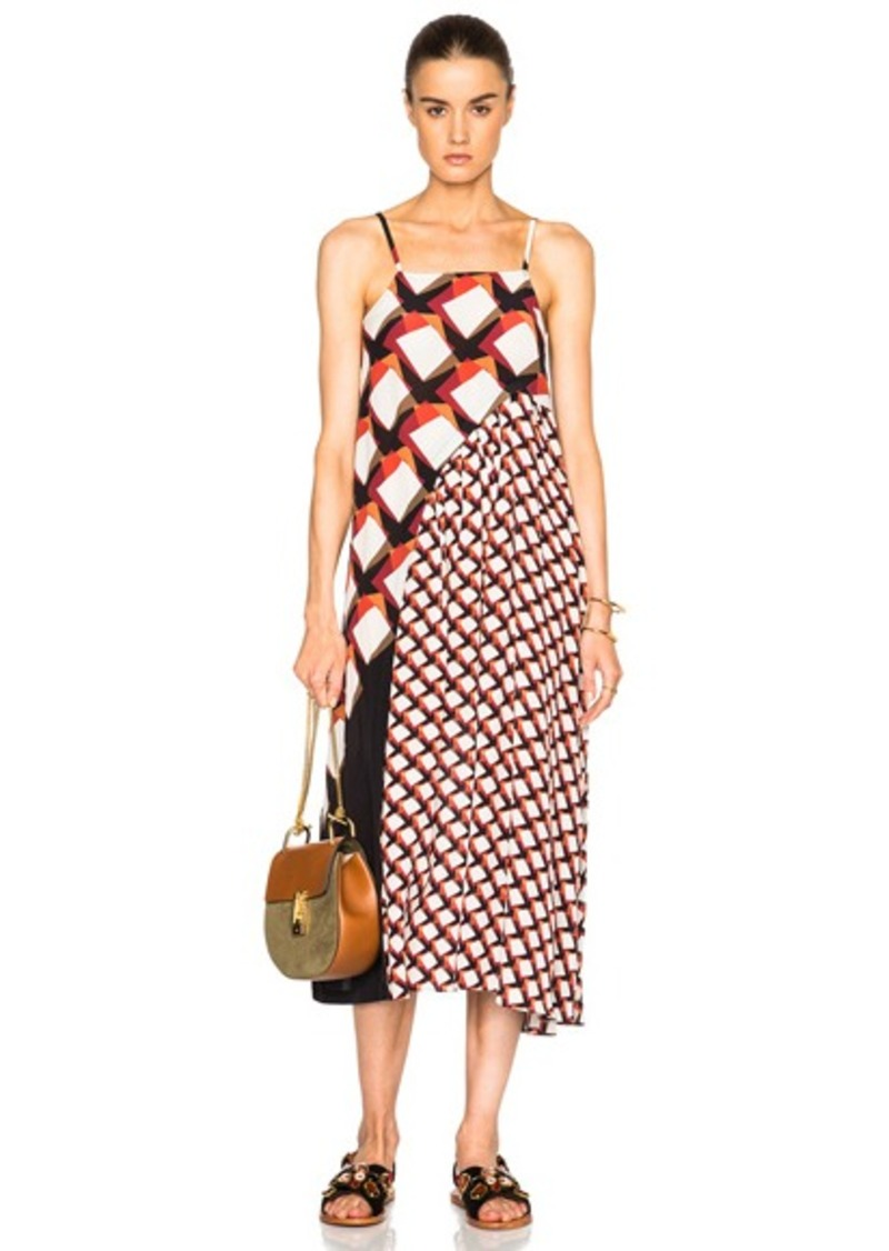 SUNO Pleated Underplay Maxi Dress