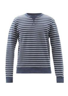 Sunspel Crew-neck striped cotton-jersersey sweatshirt