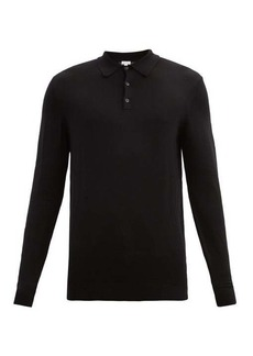 Sunspel Merino-wool long-sleeved polo shirt