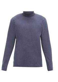Sunspel Roll-neck cotton-jersey T-shirt