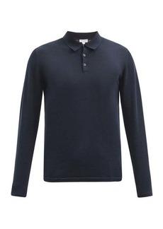 Sunspel Sea Island cotton-jersey long-sleeved polo shirt