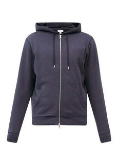 Sunspel Zipped cotton-jersey hooded sweatshirt