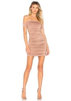superdown Elora Ruched Off The Shoulder Dress