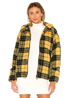 superdown Ria Plaid Teddy Jacket