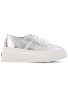 Superga 50mm Metallic Canvas Platform Sneakers