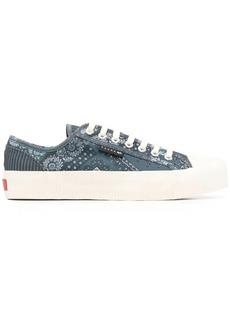 Superga bandana-print platform sneakers