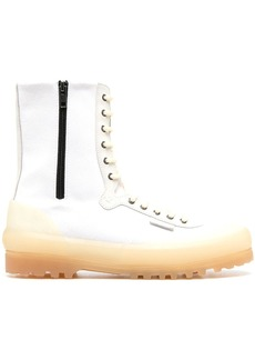 Superga high-top lace-up boots