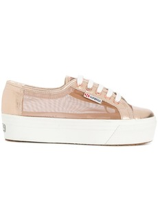 Superga sheer panel platform sole sneakers