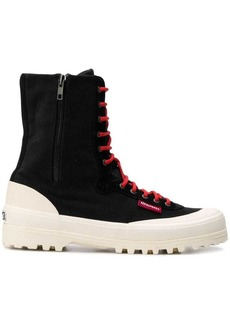 Superga side zip boots
