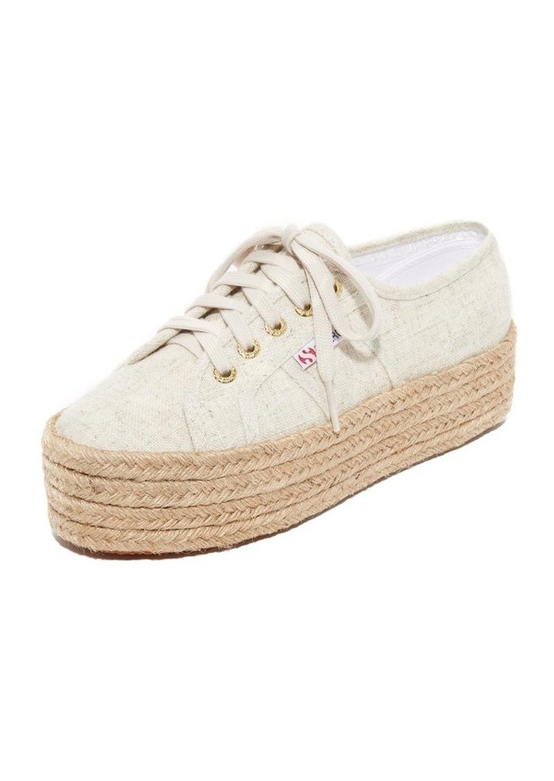 af1f369cb SALE! Superga Superga 2790 Linen Platform Espadrille Sneakers