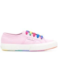 Superga coloured laces platform sneakers