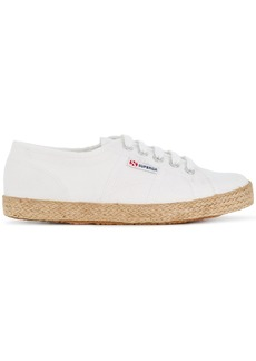 Superga low top woven sole sneakers
