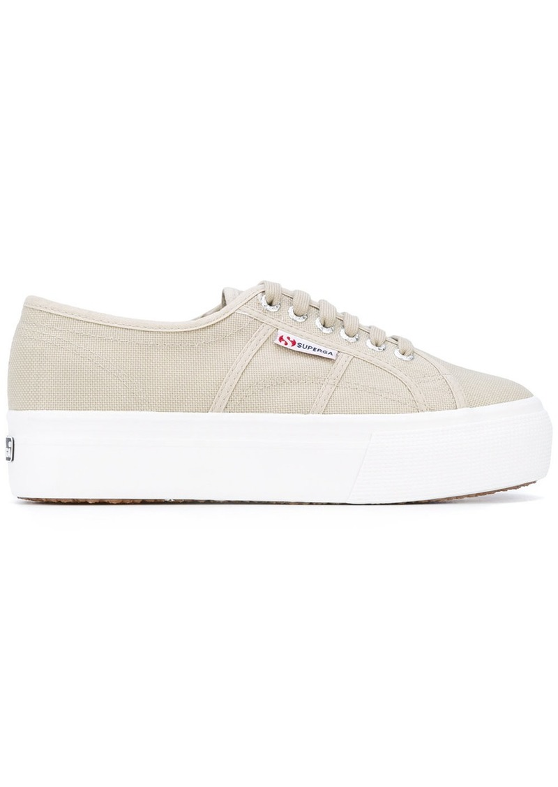 platform lace-up sneakers - Nude & Neutrals Superga JuHDX