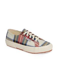 Superga Tartan Print Sneaker (Women)