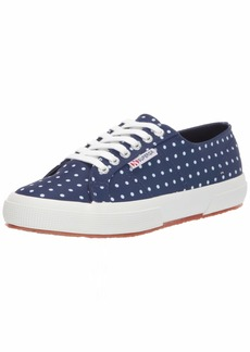 Superga Women's 2750 MICROTECHW Sneaker Blue Polka dot 41.5 M EU ( US)