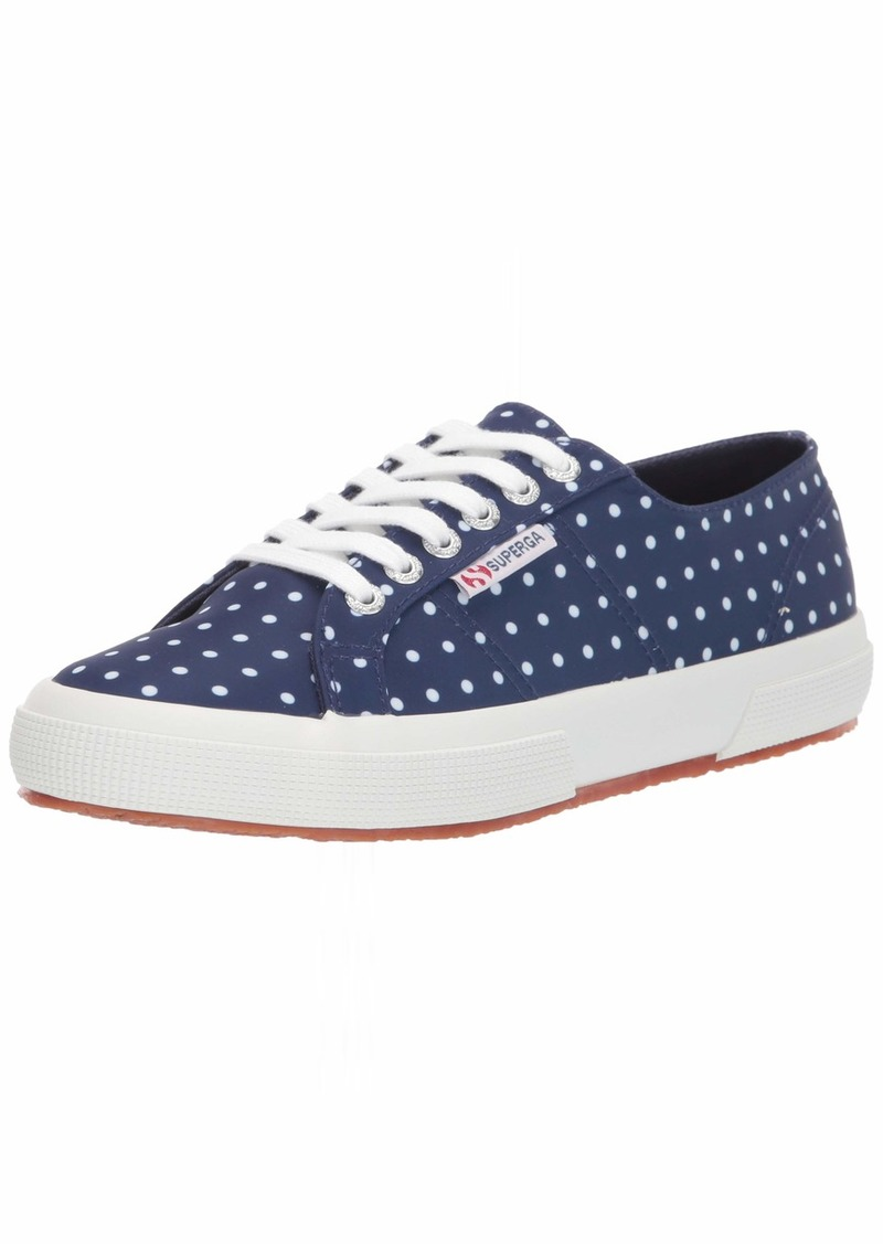 Superga Women's 2750 MICROTECHW Sneaker Blue Polka dot 41.5 M EU ( US)