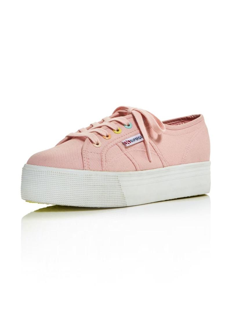 cde981a4d68b Superga Women s Coloreycotw Multicolor Eyelet Lace Up Platform Sneakers -  100% Exclusive