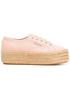 Superga woven platform sneakers - Pink & Purple