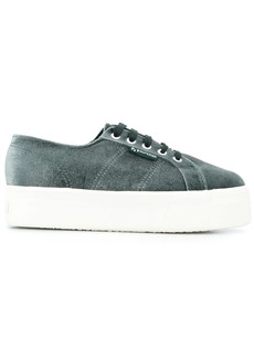 Superga velvet chunky sole sneakers