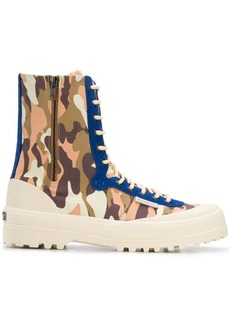 Superga x Paura camouflage print boots