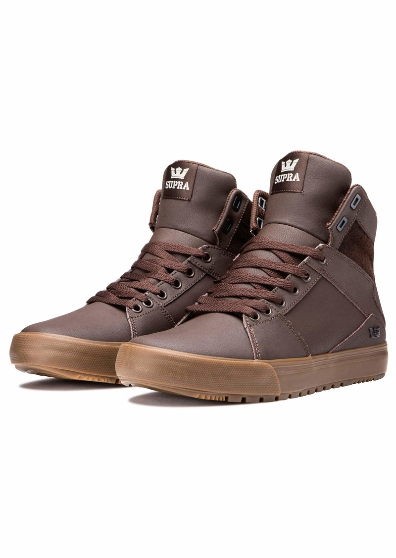Supra Footwear - Aluminum Cold Weather High Top Skate Shoes Demitasse-Gum 10 M US Women/8.5 M US Men