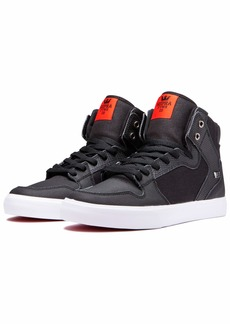 Supra Footwear - Vaider High Top Skate Shoes Black Tuf-White 12 M US Women/10.5 M US Men