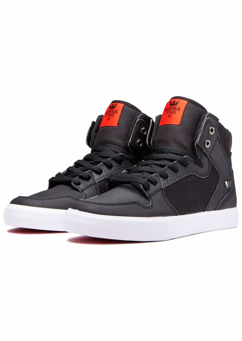 Supra Footwear - Vaider High Top Skate Shoes Black Tuf-White 13 M US Women/11.5 M US Men