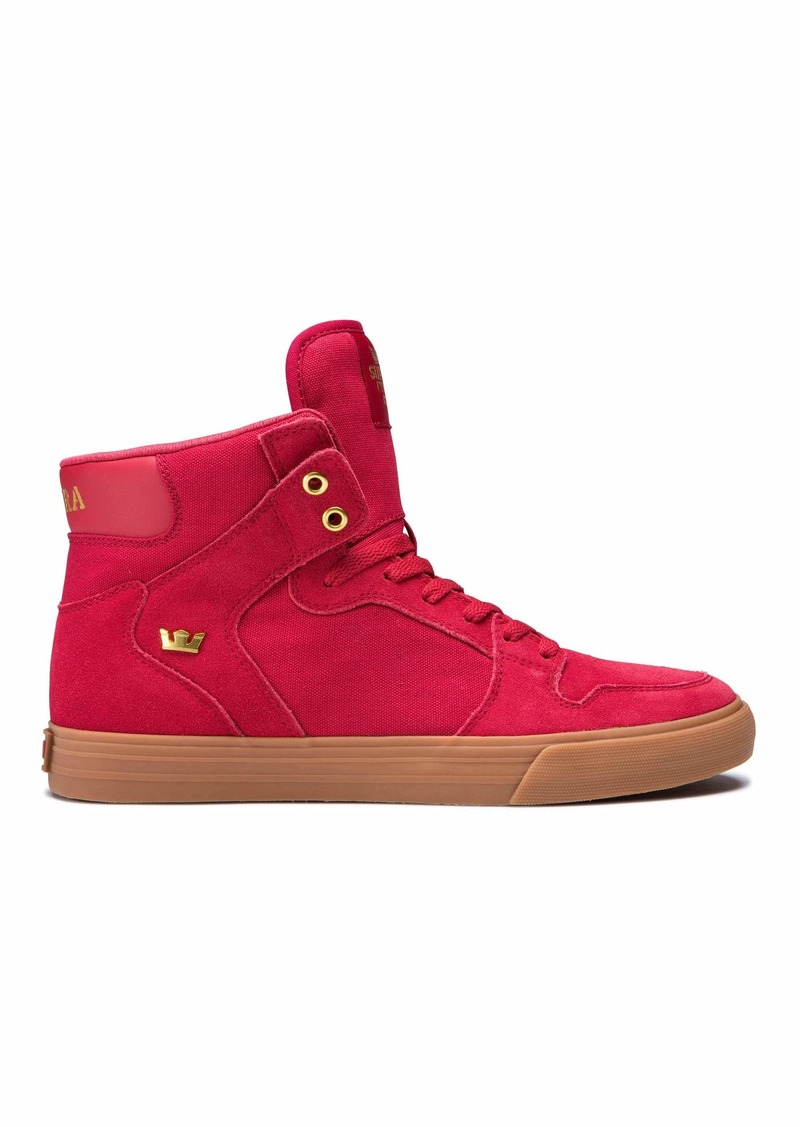 Supra Footwear - Vaider High Top Skate Shoes Rose/Gold-Light Gum 11 M US Women/9.5 M US Men