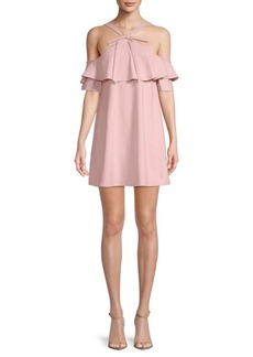 Susana Monaco Cold-Shoulder Shift Dress