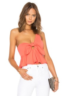 Cropped Tie Front Top