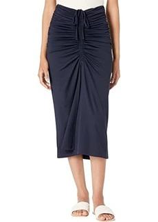 Susana Monaco Gathered Front Drawstring Skirt
