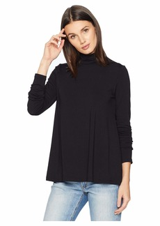 Susana Monaco Long Sleeve A-Line Turtleneck Top