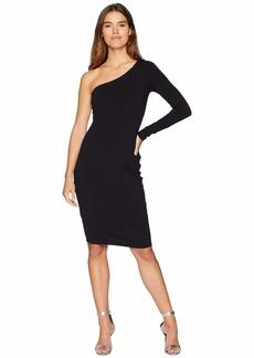 Susana Monaco Long Sleeve One Shouldered Dress