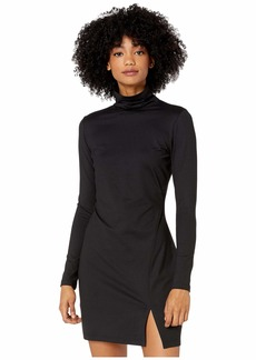 Susana Monaco Long Sleeve Turtleneck Mini Dress