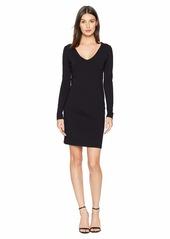 Susana Monaco Long Sleeve V-Neck Dress