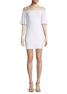 Susana Monaco Off-The-Shoulder Bell-Sleeve Dress