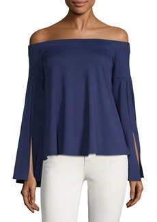 Susana Monaco Off-The-Shoulder Bell-Sleeve Top