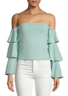Susana Monaco Off-the-Shoulder Layered Top