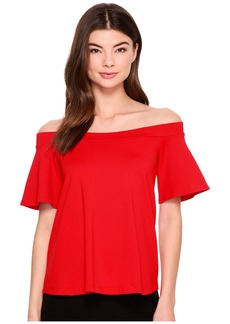 Susana Monaco Piper Off Shoulder Flutter Top