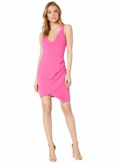 Susana Monaco Plunge Neckline Side Pleat Dress