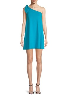 Susana Monaco Self-Tie One-Shoulder Mini Dress
