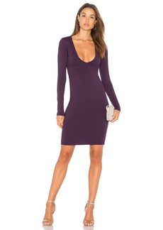 Susana Monaco Fitted V Neck Dress