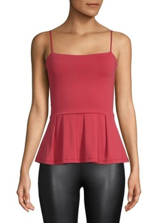 Susana Monaco Sleeveless Peplum Top