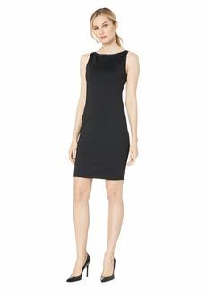 Susana Monaco Sleeveless Wide Neck Dress