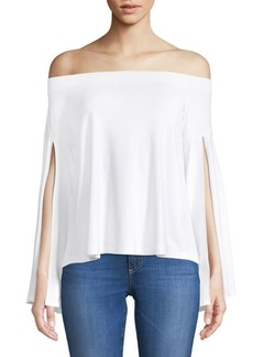 Slit Off-The-Shoulder Top