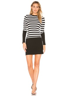 Stripe Crew Neck Long Sleeve Dress